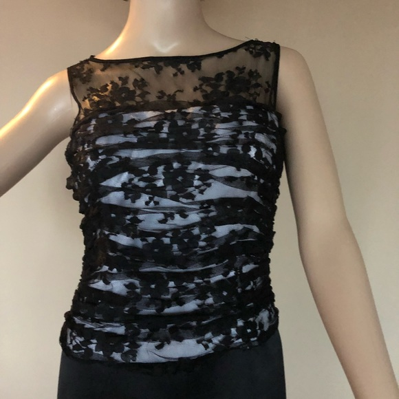 JS Collections Dresses   Blackwhite Evening Gown   Poshmark